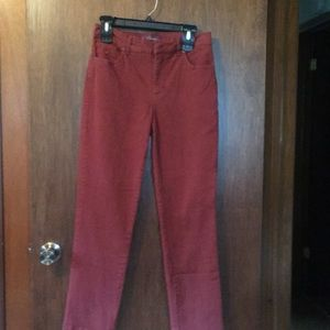 Rust colored jeans size 6 worn 4 times good